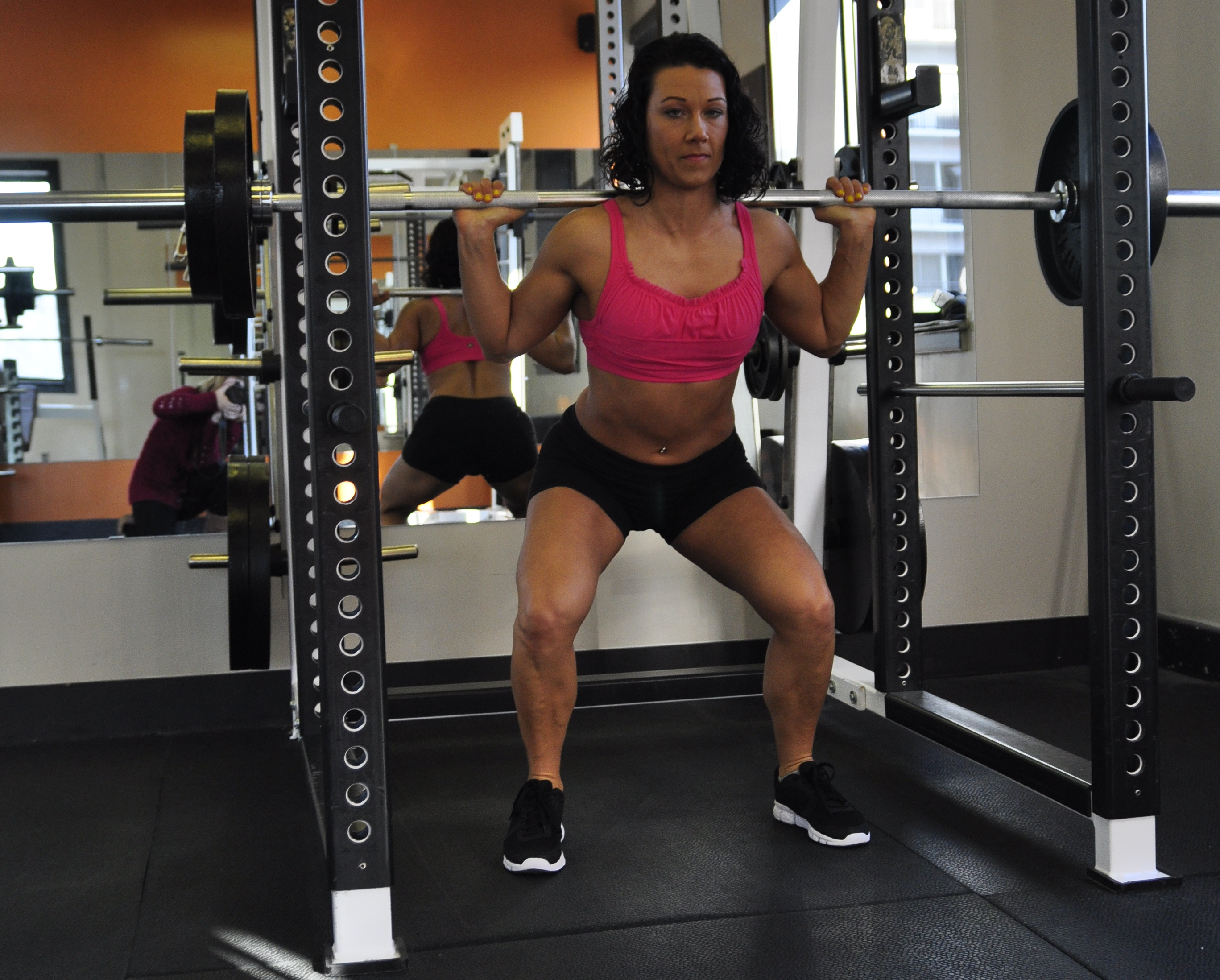 lydia heavy squats