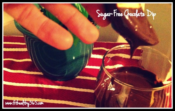 sugar-free chocolate dip