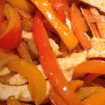 eat clean Chicken Fajitas