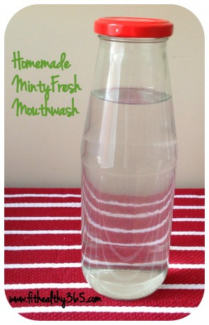 Natural Homemade Mouthwash {recipe
