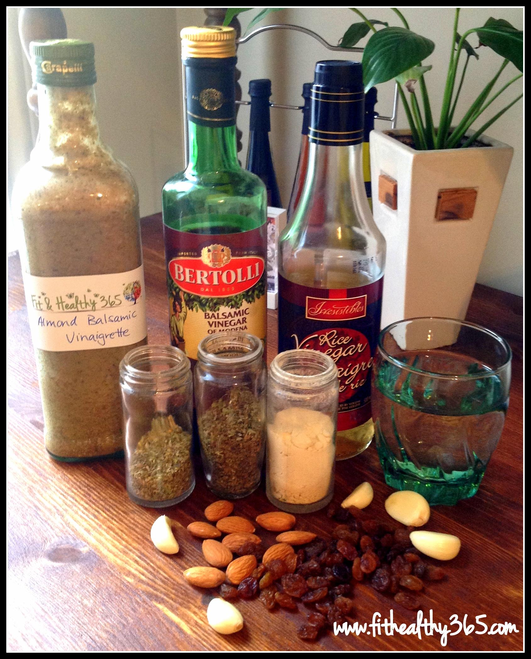 homemade almond balsamic vinaigrette