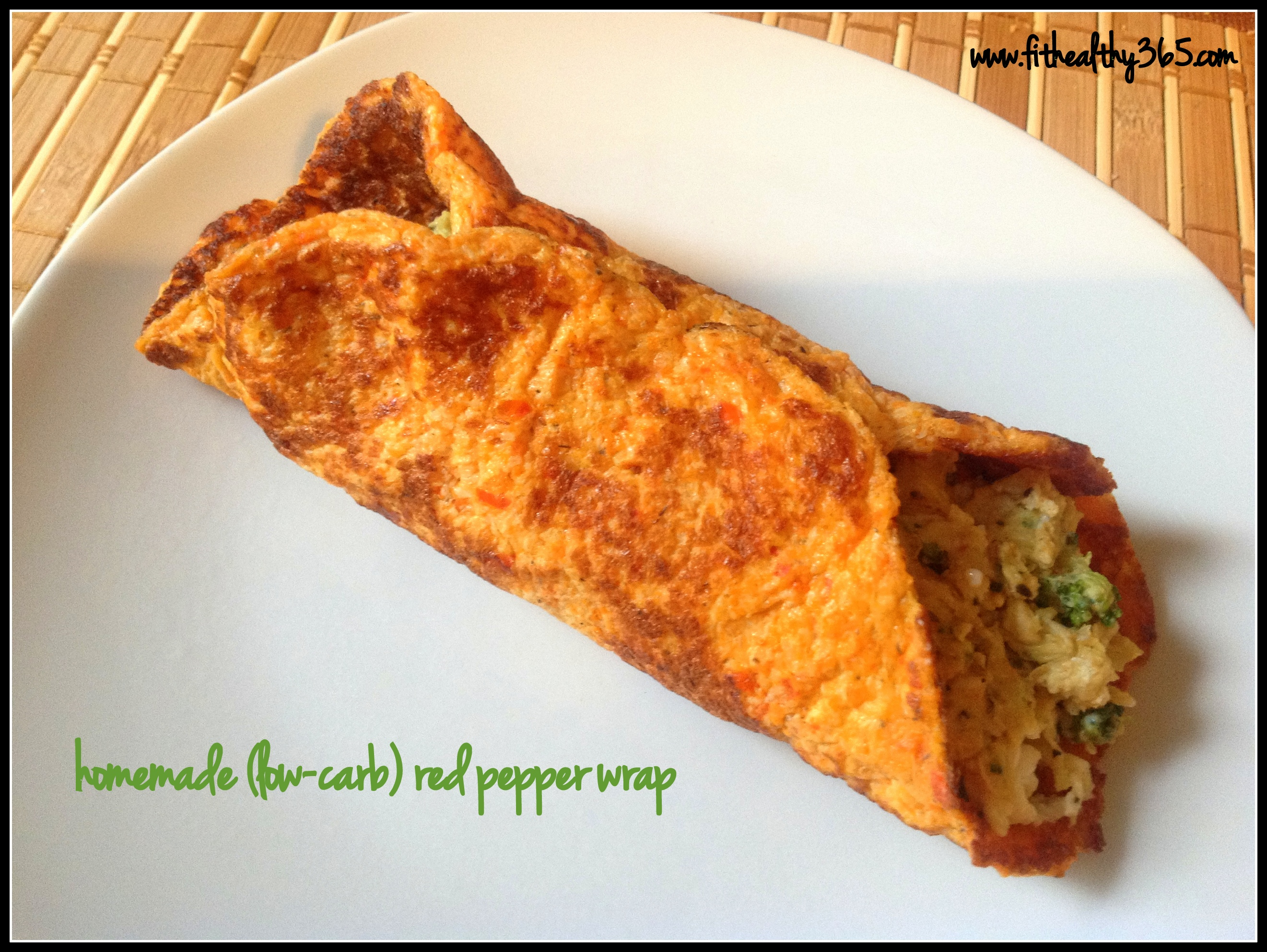 low carb red pepper wrap
