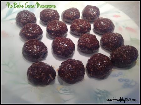 no bake cocoa macaroons