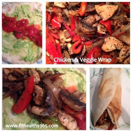chicken and veggie wrap