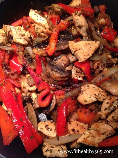 chicken and veggies wrap