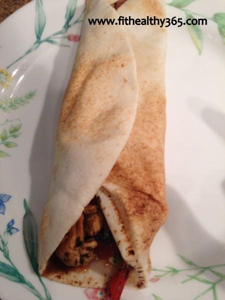 chicken veggie wrap