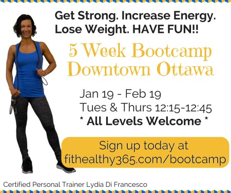 winter 30 min Session Bootcamp ottawa downtown centretown