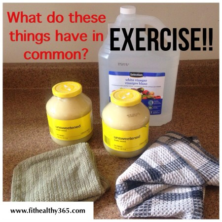 at home workout with kitchen items