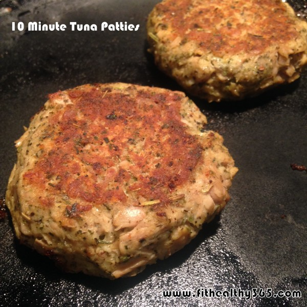 10 minute easy tuna patties recipe fit healthy 365 for Healthy tuna fish recipes