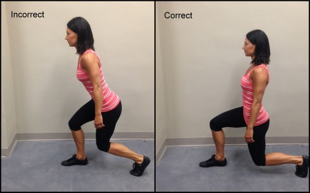 Lunge Form bad and good