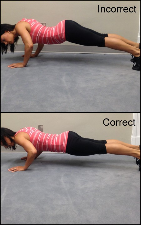 Push Up Form bad and good