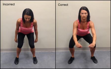 Squat Form bad and good