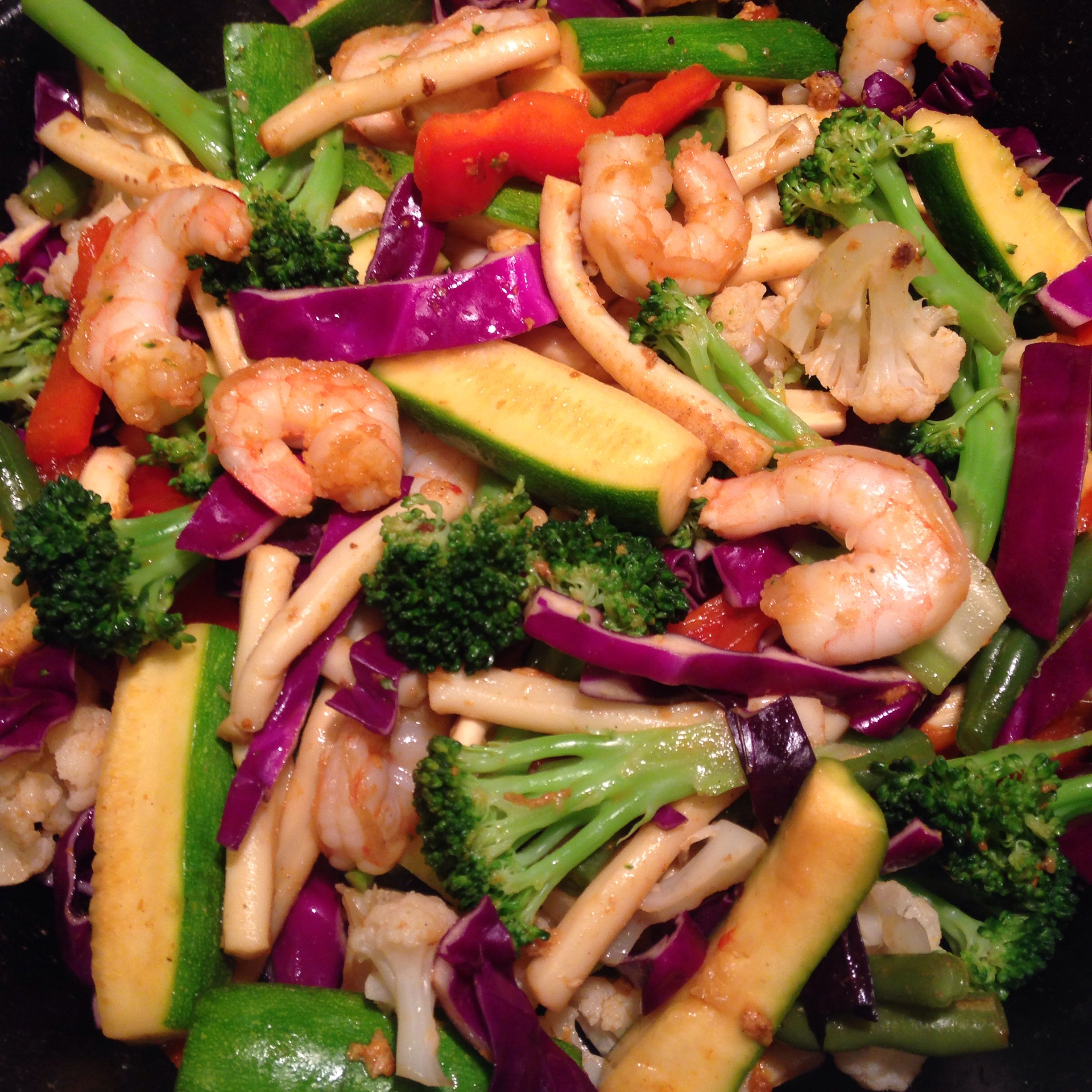 easy seafood stirfry