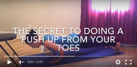 how to do push up from toes