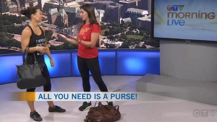 fun workout using a purse