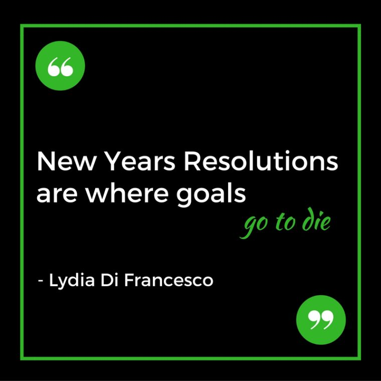 what to do instead of making a new years resolution