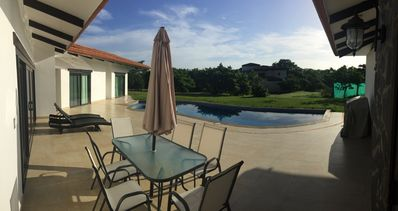 pool sitting